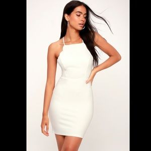 Lush Dresses - Lulus white bodycon dress